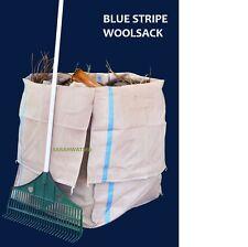 Garden Bag/Woolpack - For Lawnmower and Garden Waste (Blue Stripe)