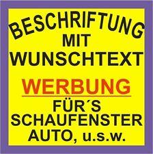 Bis zu 6. Zeilen 80cm Aufkleber - Beschriftung Werbung Auto Heckscheibe Sticker