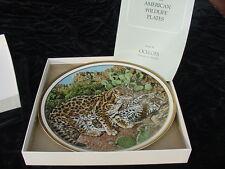 Lenox American Wildlife Collector Plate Ocelots Mint in Box