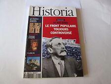 """--- HISTORIA 593  """" 60 ans apres le front populaire  """"--."""