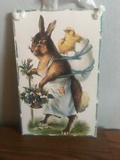 Easter Rabbit And Chick Sign
