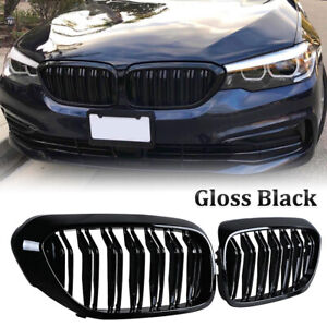 For BMW G30 G31 5 Series Sport Kidney Grille Grill Gloss Black Performance M5