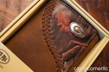 ZEP-PRO Georgia Bulldogs Fence Row Leather Camo Trifold Wallet TIN GIFT BOX