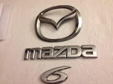 03-08 MAZDA 6 EMBLEM REAR TRUNK LOGO NAMEPLATE GENUINE P# GJ6A-51730