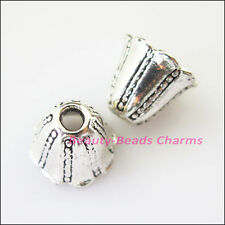 100pcs Tibetan Silver leaf bead caps FC8911