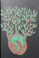 RAM SINGH URVETI - Tree of the serpent goddess. Siebdruck auf schwarzen Katon.