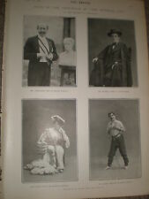 Printed photo actors Beerbohm Tree and others in The Eternal City 1902 ref Z