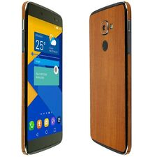 Skinomi Light Wood Skin+Clear Screen Protector for Alcatel IDOL 4s