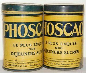 BOITES DE PHOSCAO anciennes, 2 boites.