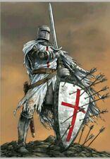5D Diy Full Drill Warrior Crusader Red Cross Shield Diamond Painting Wall Art