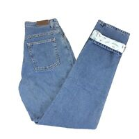 LL Bean Women's High Rise Lined Blue Jeans Size 8T Tall