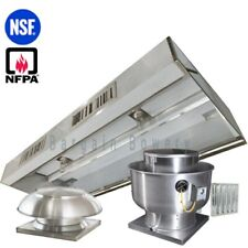 12' Ft Restaurant Commercial Kitchen Exhaust MakeUp Air Hood CaptiveAire System