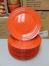 ❤ Rachael Ray Double Ridge Orange Dinnerware Dinner Plate