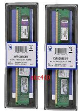 Kingston DDR3 1333MHz 8GB (2x4GB)  KVR13N9S8/4  PC-10600 desktop MEMORY 240 pin