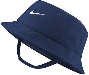 Boys Nike Dry Toddler Bucket Hat Cap Navy Blue White Size 2-4T Beach Headwear