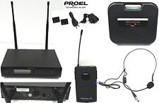 PROEL RMW1000H RADIOMICROFONO PROFESSIONALE WIRELESS UHF CON HEADSET ARCHETTO