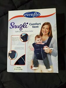 Evenflo Snugli Comfort Vent Soft Carrier Navy Blue 7-26 lbs New In Box