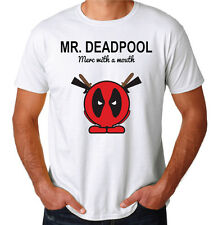 Deadpool Mister Mr Merc With A Mouth Funny Comedy Movie Superhero Mens T-Shirt