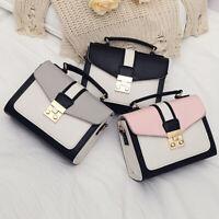 Women PU Leather Handbag Satchel Shoulder Crossbody Messenger Bag Tote Gift