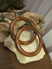 Amazing Vintage Genuine Brown Marbled Bakelite Bangle 2 Bracelets