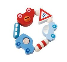New HABA Toot-Toot Wooden Baby Clutching Toy manipulative rattle teether Germany