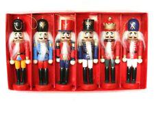 Set of 6 Cute Wooden Nutcracker Soldier Model Figurine xmas gift Decor 12cm