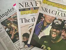 2020 LA Times Newspaper Lot - Los Angeles Lakers NBA Finals Champions LeBron