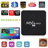MXQ Pro 4K Android Smart TV Box 1080P Wifi 1+8GB 2+16GB HD media Digital US