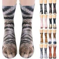 Unisex Animal Paw Socks 3D Printed Crew Hoof Tube Funny Men Women Kids Cotton