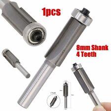 8mm Shank 4 Teeth Extra Long Flush Trim Router Bit Woodworking Cutter Carbide