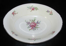 Homer Laughlin Eggshell Nautilus Oval Serving Bowl Priscilla Pattern Floral