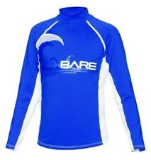 Bare Youth BLUE LONG Sleeve Sunguard Kid's Rash Guard 50+ SPF UV Protection 8yrs
