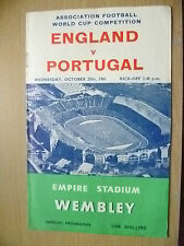 WORLD CUP QUALIFIER COMPETITION 1961- ENGLAND v PORTUGAL
