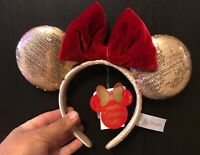Hong Kong Disneyland Minnie Wishmas Ears Headband Christmas Disney Parks NWT
