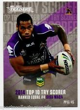 2015 NRL TRADERS PIECES OF THE PUZZLE SISA WAQA MELBOURNE STORM PP6 CARD