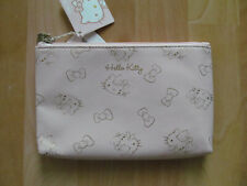 SANRIO Hello Kitty Logo Small Rectangle Pouch Zipper Bag Cosmetic Case Purse