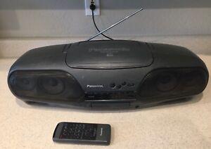 Vintage Panasonic RX-DT707 'cobra head' platinum top Boombox, with remote
