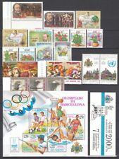 San Marino 1992 Annata Completa 21 v. + foglietto e libretto **