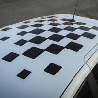 Damier Renault Sport toit Megane 2/3 RS