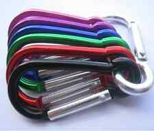 5X Aluminum Carabiner D-Ring Key Chain / Clip / Hook