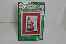 Bucilla Counted Cross Stitch Naughty or Nice Santa #84244 by Robin Kingsley