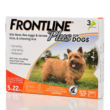 Frontline Plus Orange for Small Dogs 5-22 lbs, 3 Month Supply, 3 Applicators