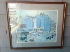 Newark NJ,  Cathleen Engelsen Litho Print, Signed Numbered Ltd Edition Folk Art