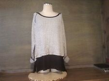 CONCEPTS NY WOMENS LONG SLEEVE HIGH LOW DARLING TOP BLACK WHITE NWT TWOFER