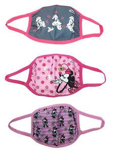 Disney Kids Girls Minnie Mouse Reusable Face Masks 3 Pack Retro Pink