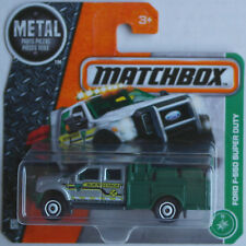 MATCHBOX-FORD f-550 Super Duty silbermet./vert foncé BLM Research Nouveau/Neuf dans sa boîte