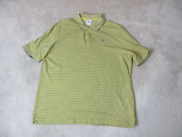 Lacoste Polo Shirt Adult Extra Large Size 8 Yellow Gray Striped Crocodile Mens