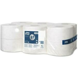 12 Tork T2 Advanced System Toilet Paper Mini Jumbo Rolls 120238 12x170m