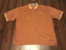 Descente Men's Orange Mercerized Egyptian Cotton Polo Golf Casual Shirt XL