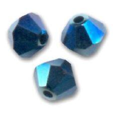 15 Perles Toupies 4mm Cristal Swarovski  - CRYSTAL METALLIC BLUE 2X